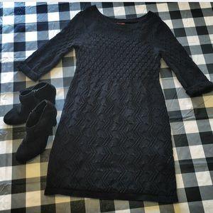 Elle black sweater dress (M)